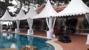 Location de pagodes, tentes, pour mariage et événements privés