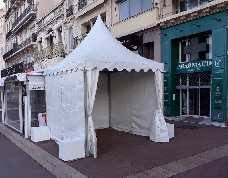 Location et installation de tente pour test COVID Marseille