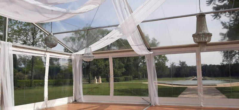 location tente toit et rideau cristal