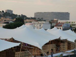 Location tente stretch Marseille Prado