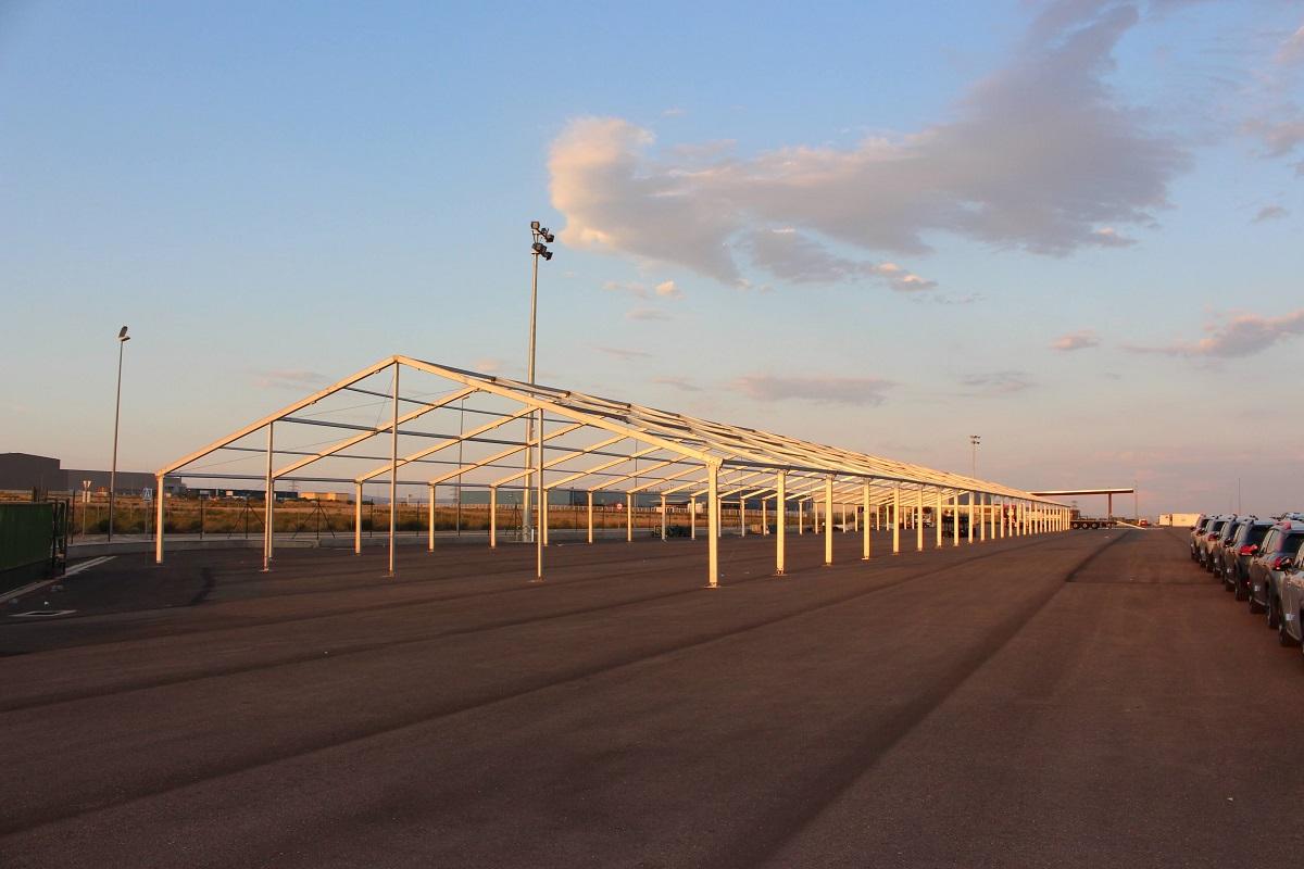 Grande structure modulaire industrielle