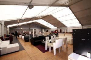 magasin temporaire sous tente chapiteau PACA Marseille Provence